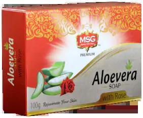 MSG Aloevera Rose Soap
